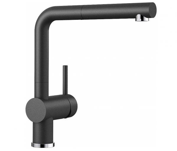 Blanco Linus-S 516688 Eenhendel Keukenkraan Met Uittrekbare Handdouche Silgranit Look Antraciet